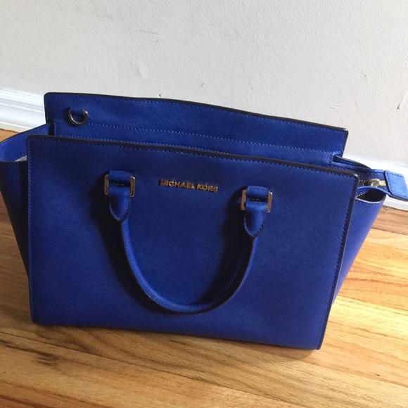 85bb939fb697 Michael Kors Bags | Royal Blue Mk Bag | Poshmark